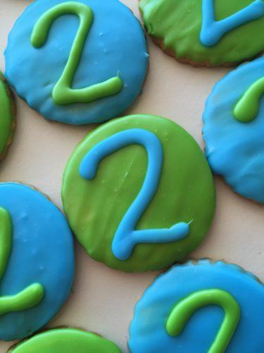 Iced Cookies - Number