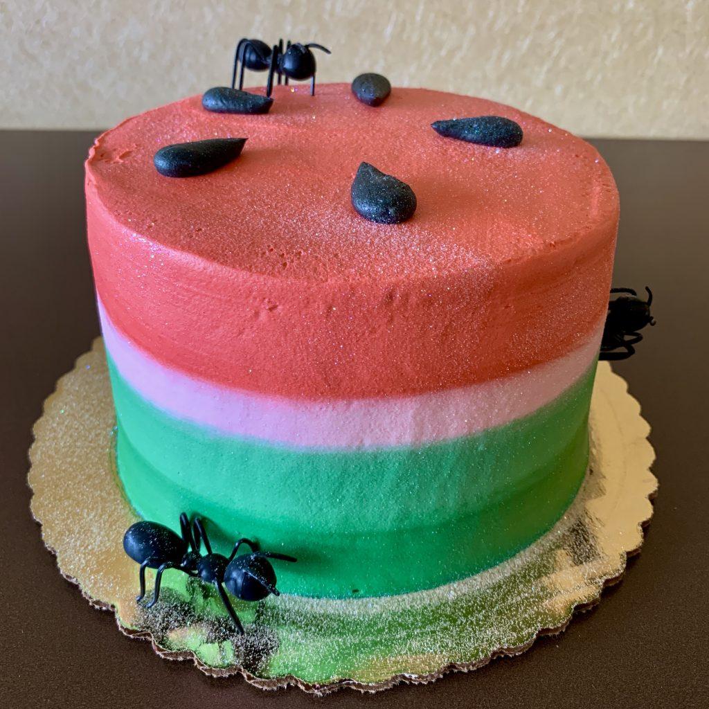 Watermelon Picnic Cake Father's Day 2020