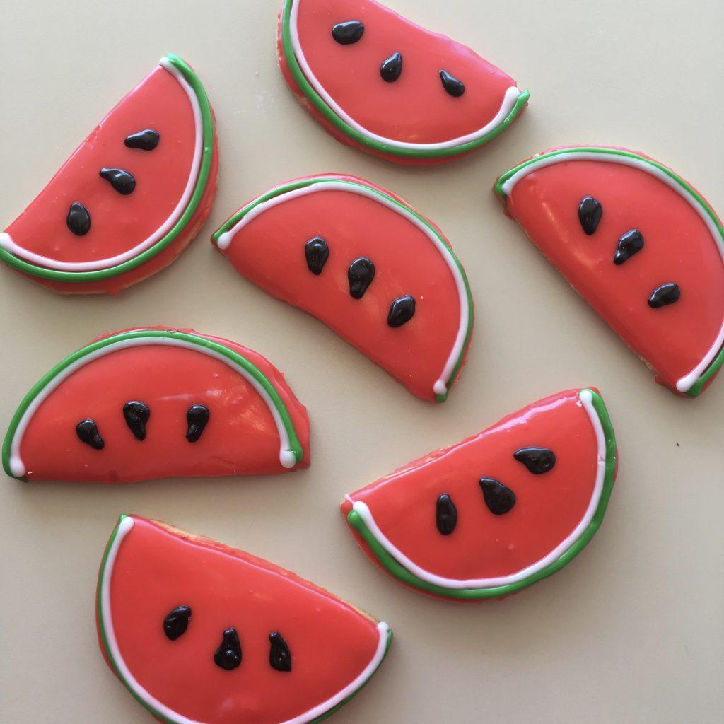 Watermelon Slice Cookies - Slice of Summer