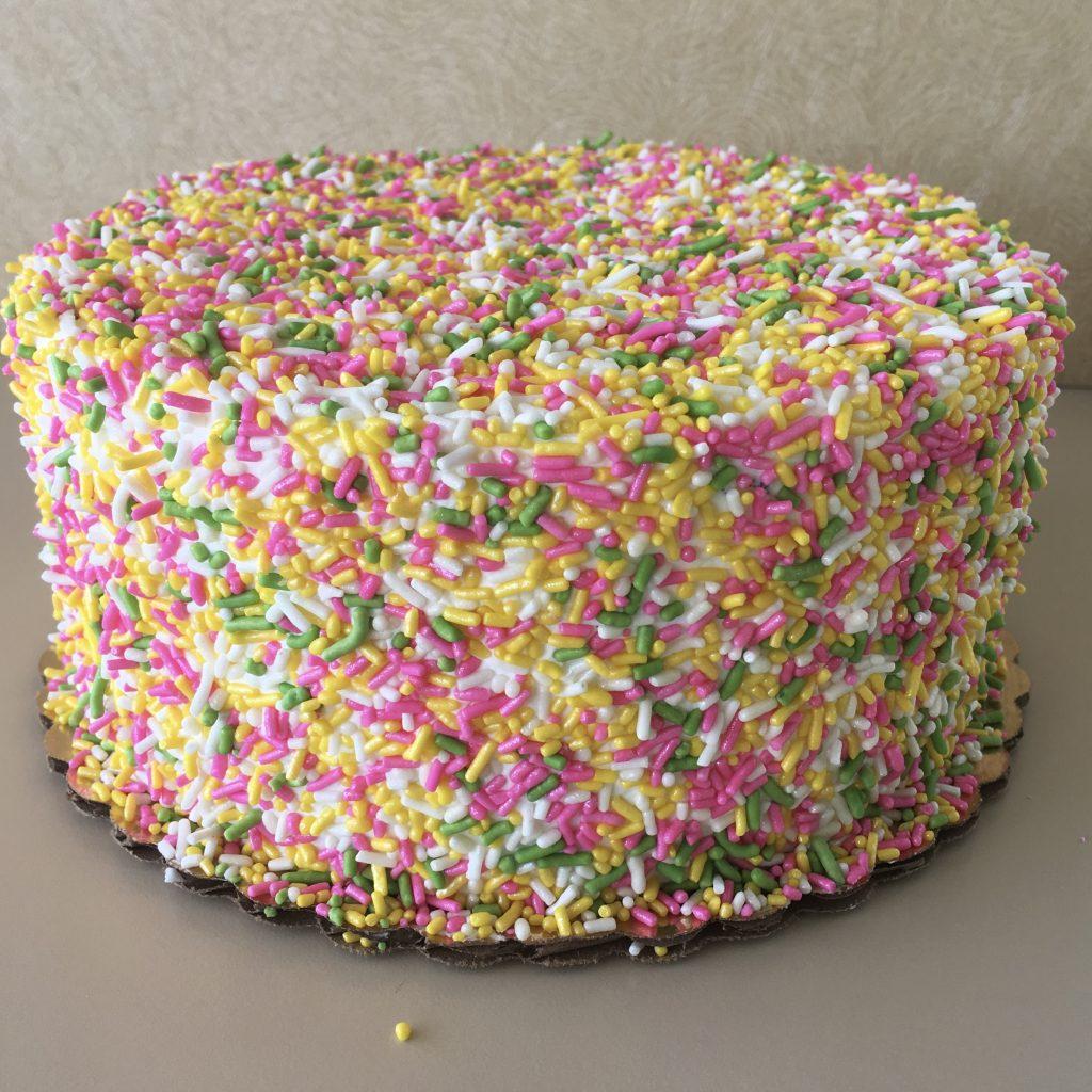 Slice of Summer Sprinkle Cake