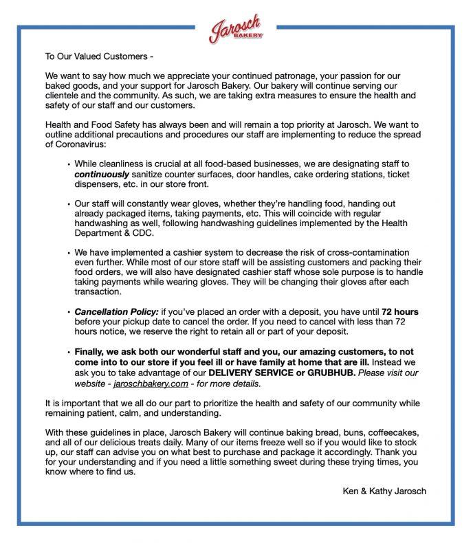 COVID Letter Sept 2020