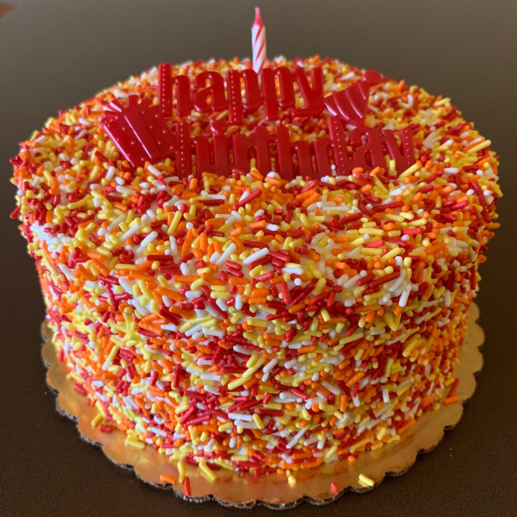 Fall Autumn Sprinkle Cake
