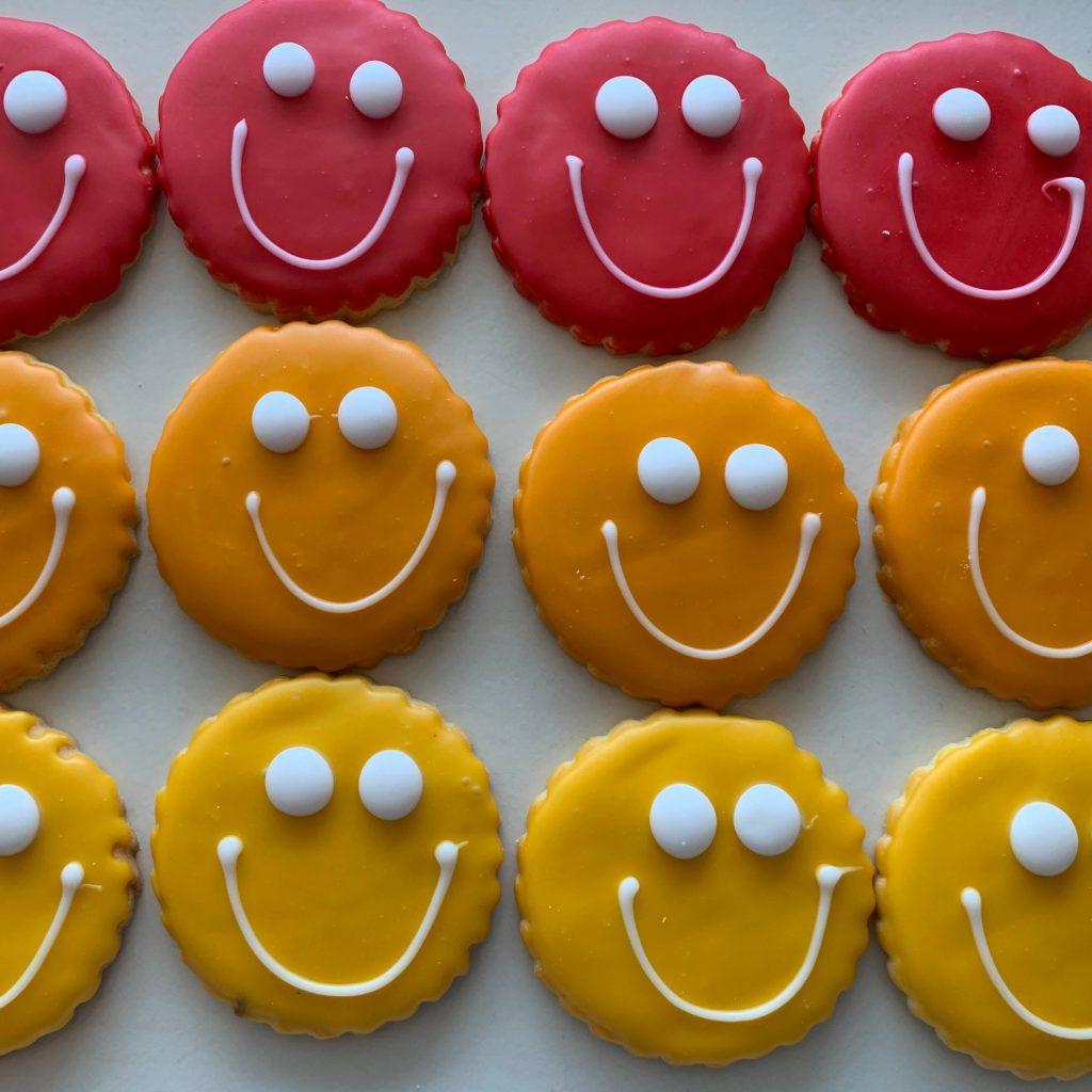 Autumn (Fall) Smiley Face Cookies