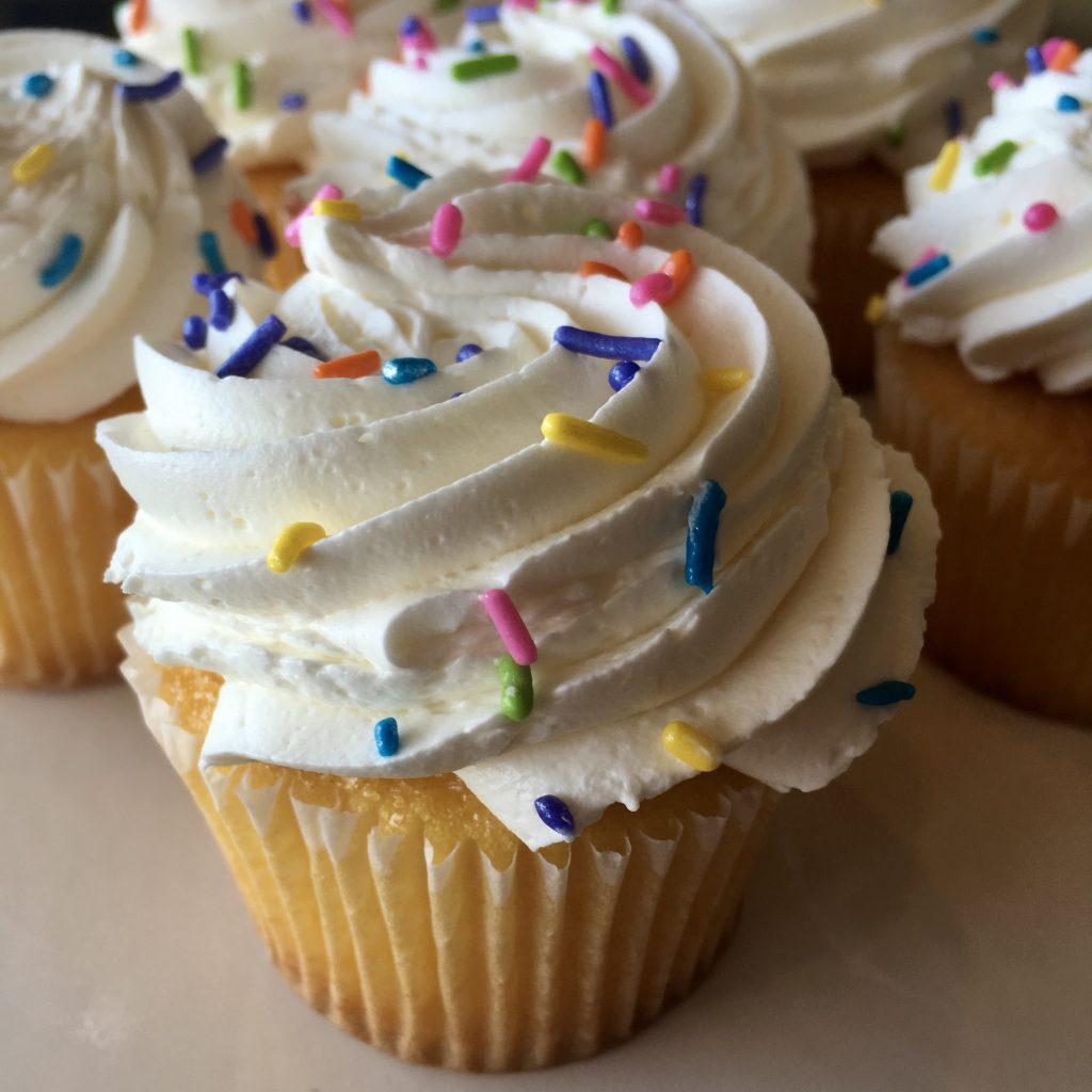 Vanilla Yellow Cupcake Buttercream Sprinkles