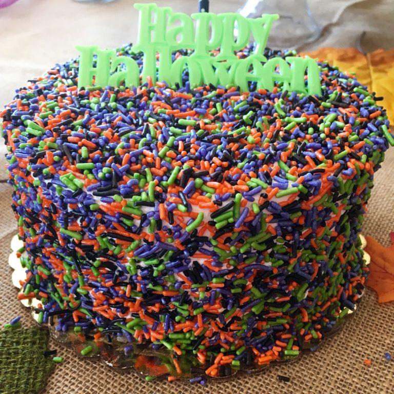 Halloween Sprinkle Cake