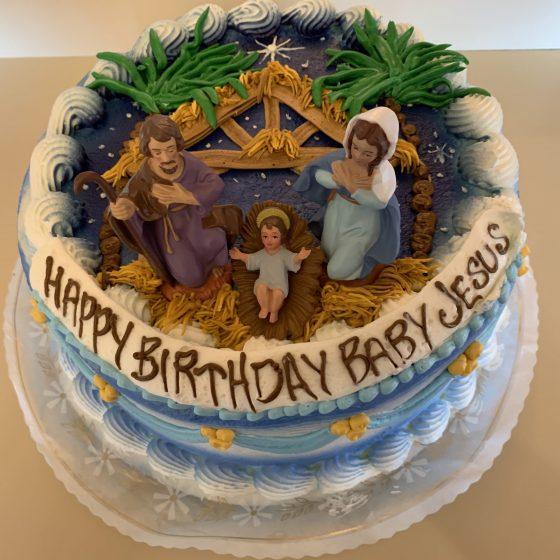 Nativity Scene Cake - Christmas