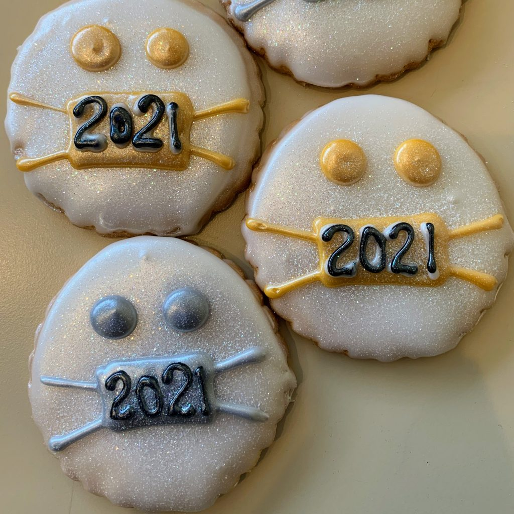 New Year's Eve Mask Cookies 2021