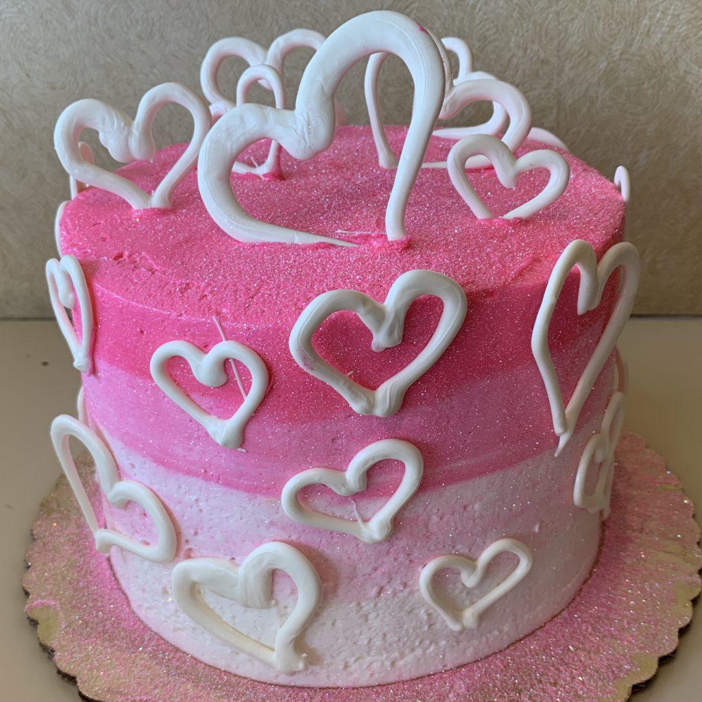 Valentine's Day Centerpiece Cake