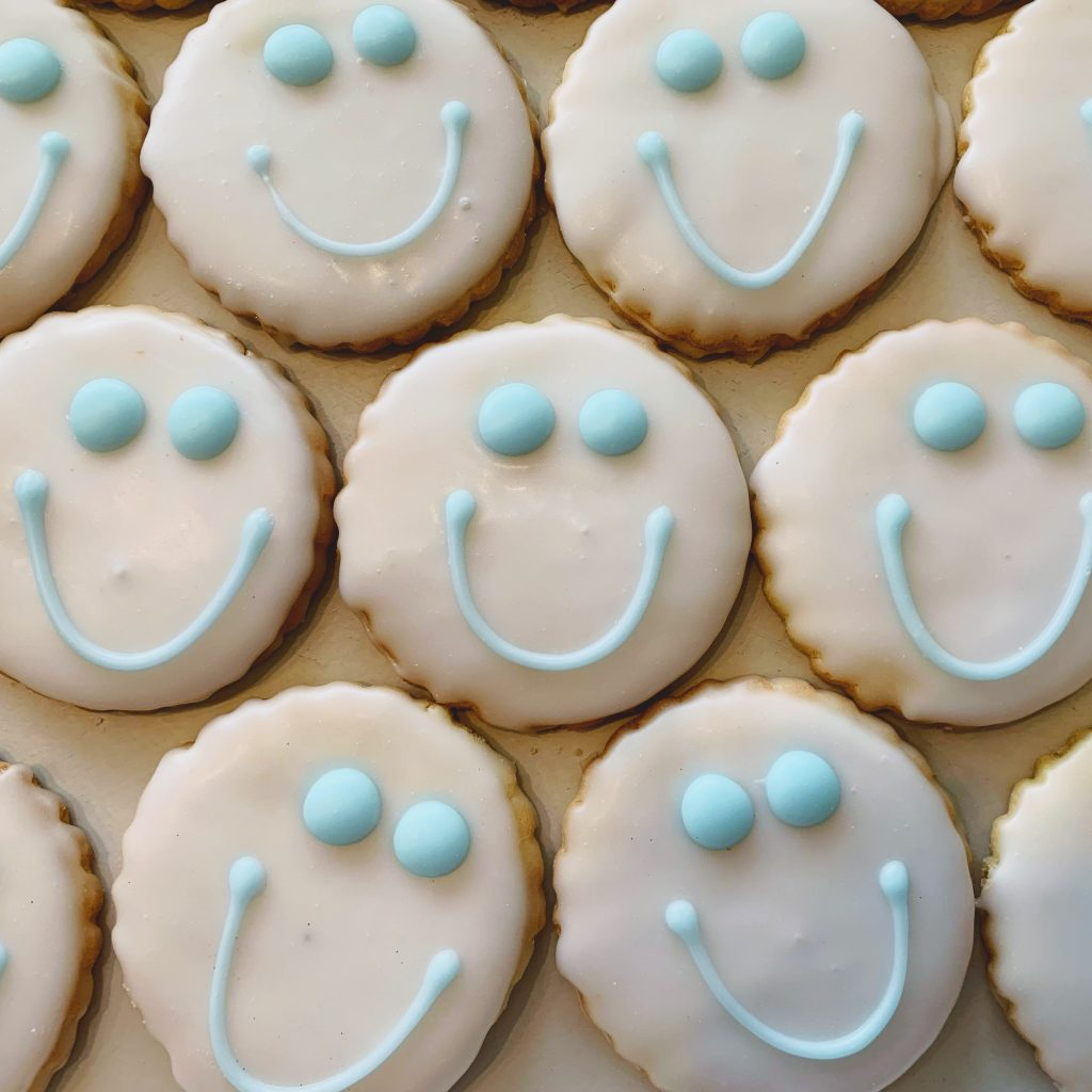 Smiley Face Cookies- Winter