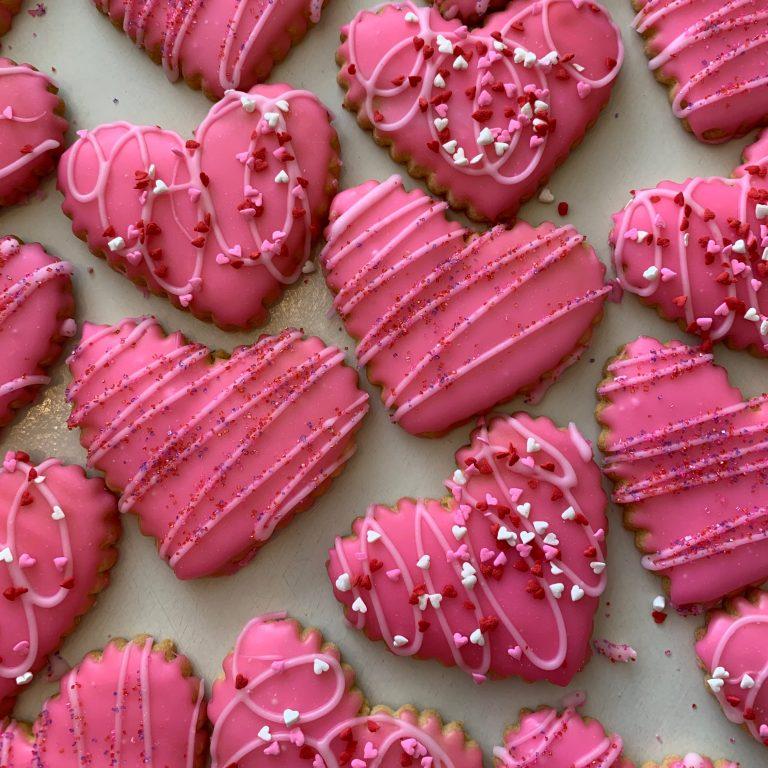 Iced Valentine Heart Cookie