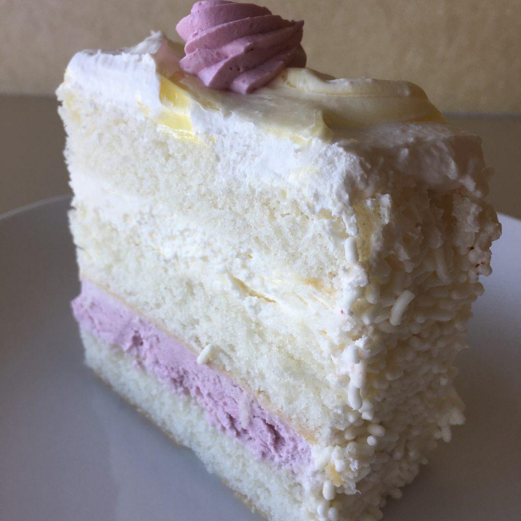 Lemon Raspberry Cake Slice