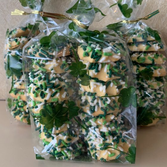 St. Patrick's Day Button Cookie Bag