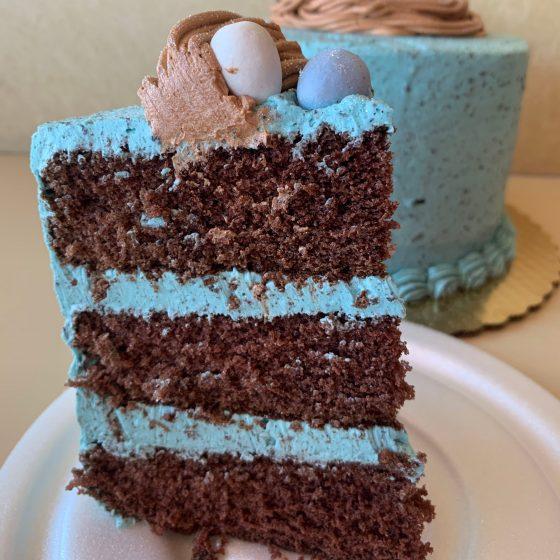 Robin's Nest Easter Centerpiece Cake