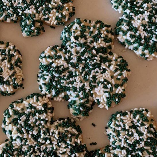 Shamrock Sprinkle Cookie