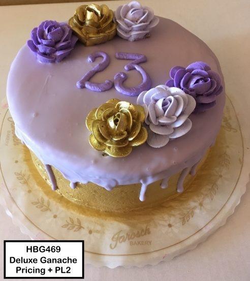 custom cake with 23 on it
