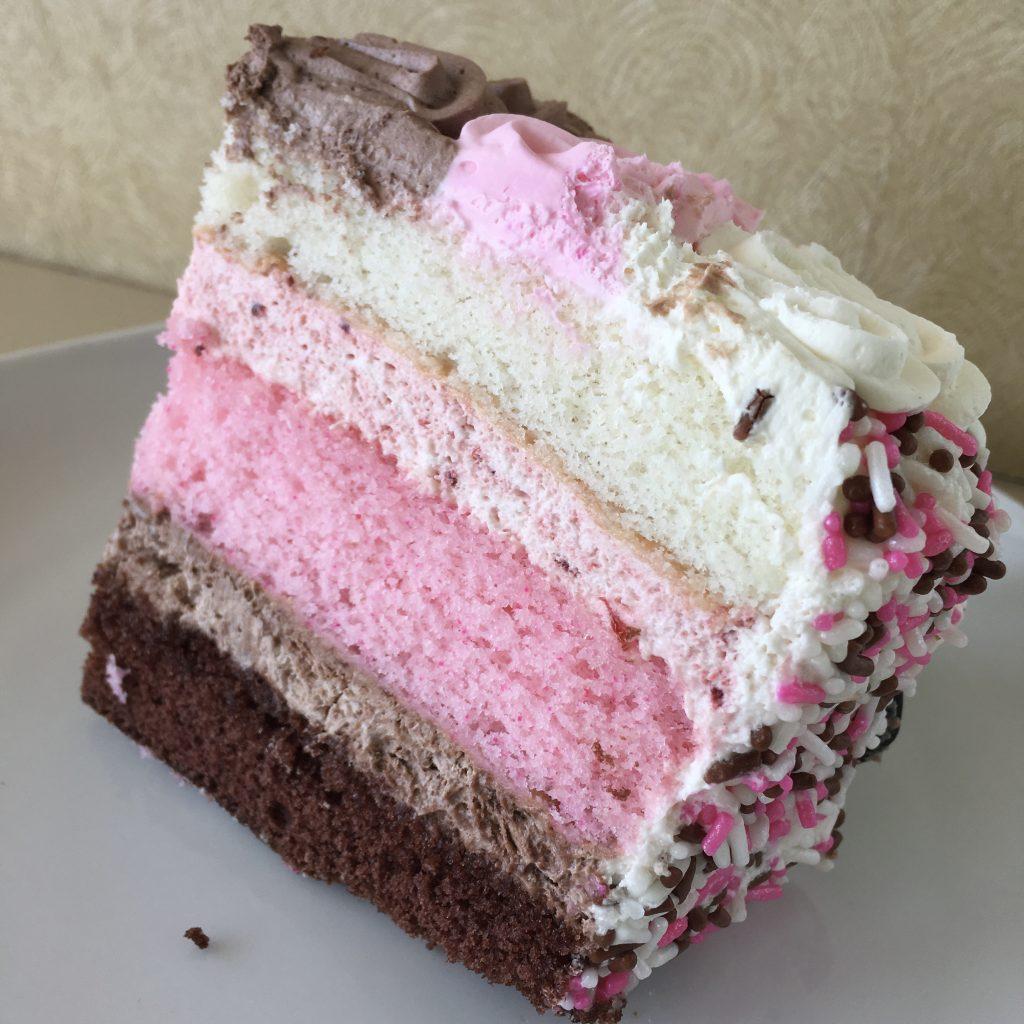 Neapolitan Cake Slice