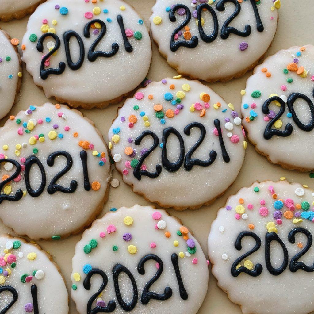 Confetti Grad Year Cookie 2021