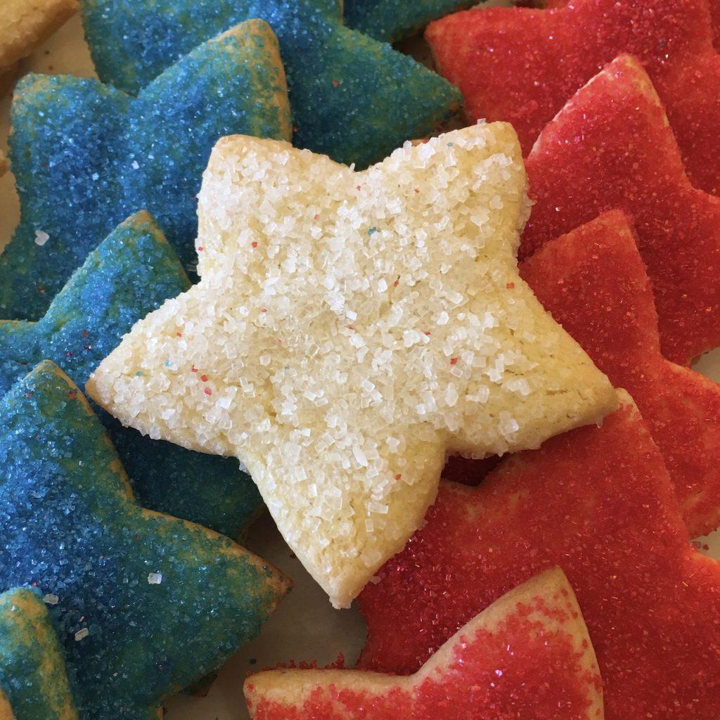 Sugar Star Cookies Patriotic 4th of July