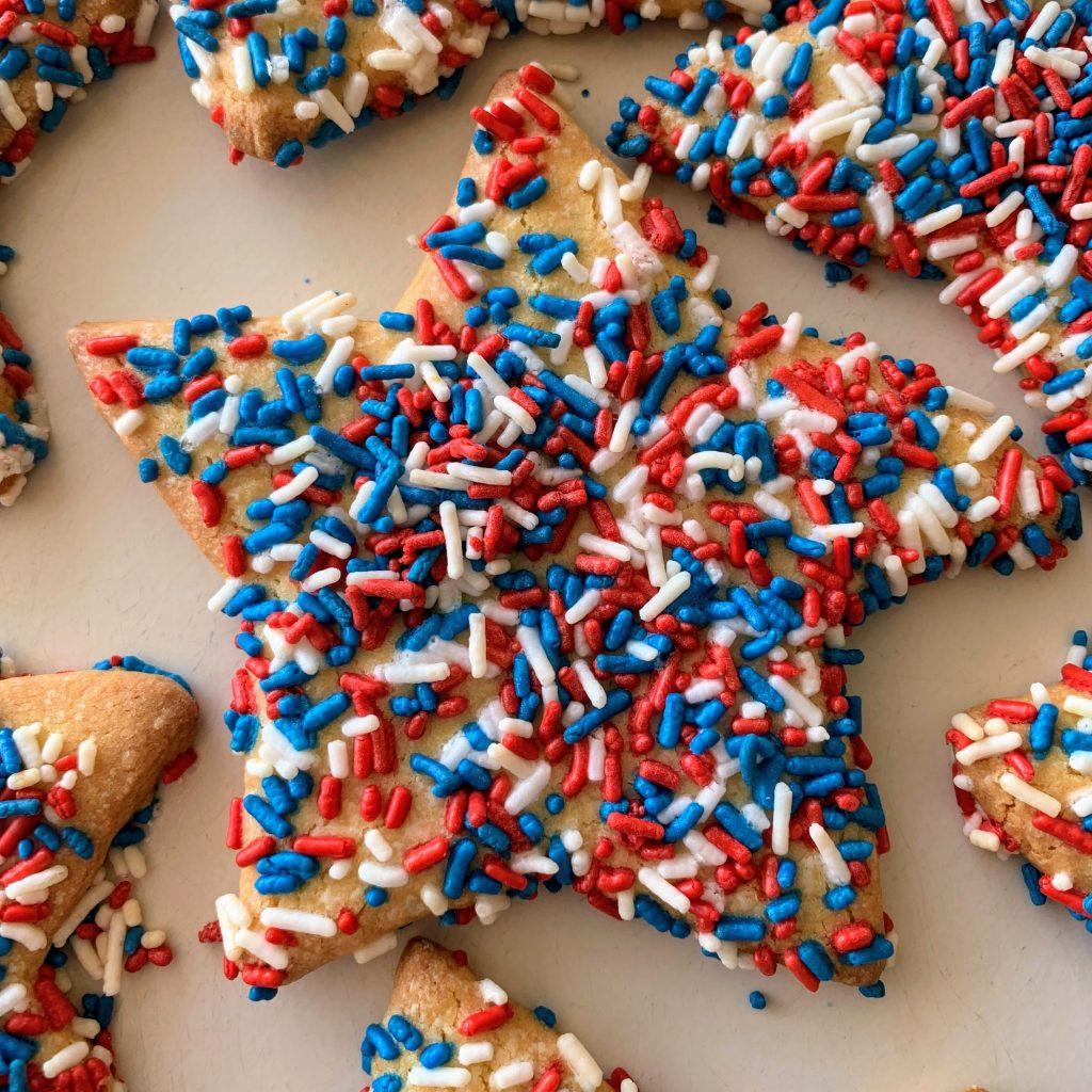 Sprinkle Star Cookies Patriotic 4th of July